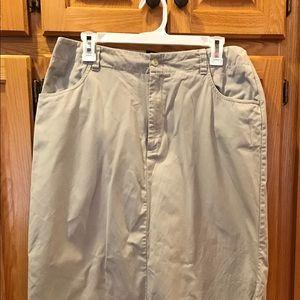 Dockers Kakis For Women Skirt